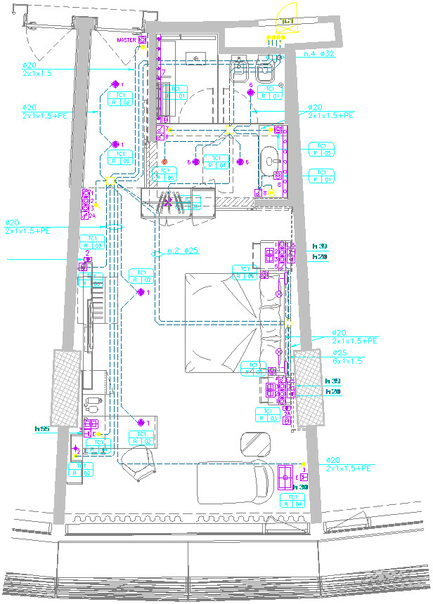 i will draw floor plan electrical plan in autocad or revit