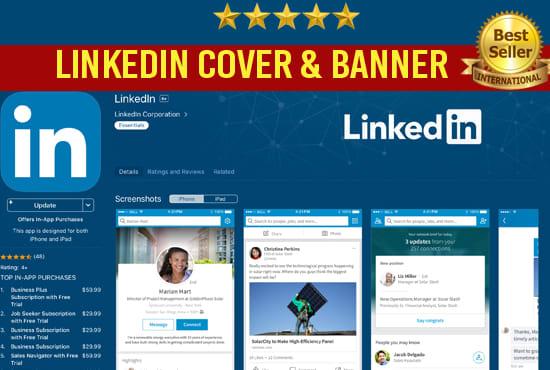 Design Stunning Linkedin Banner Header Or Background Cover