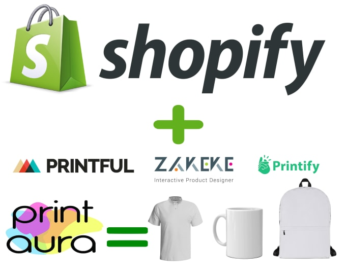 build a shopify print on demand store with printful printify