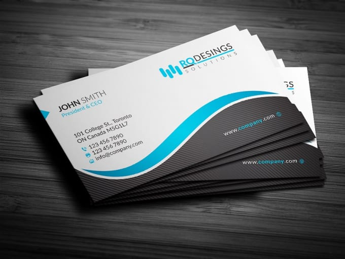 I Will Design Business Card Carte De Visite With Two Concepts