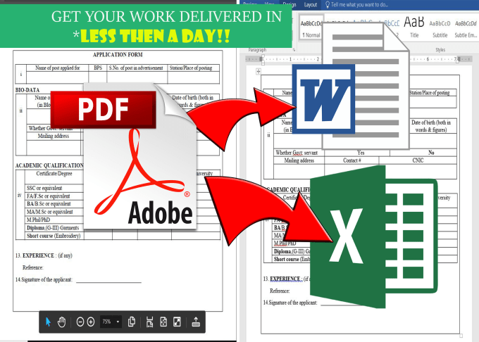 quickly convert PDF tables to editable word or excel