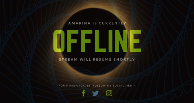 design world class twitch banner, offline screen, overlay