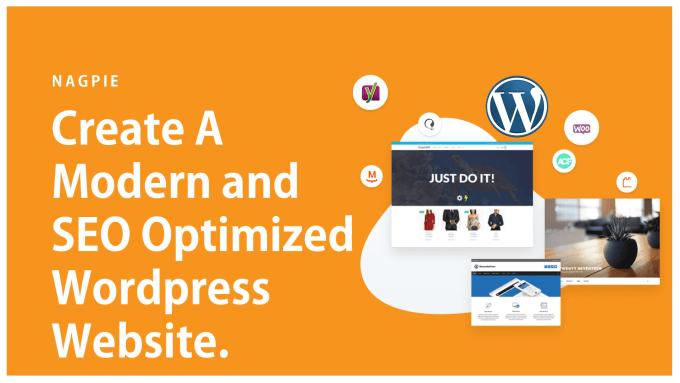 create a modern and SEO optimized wordpress website