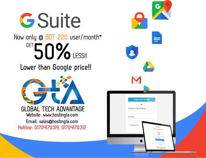 Create gsuite account for your business mail by Tahnan_anas