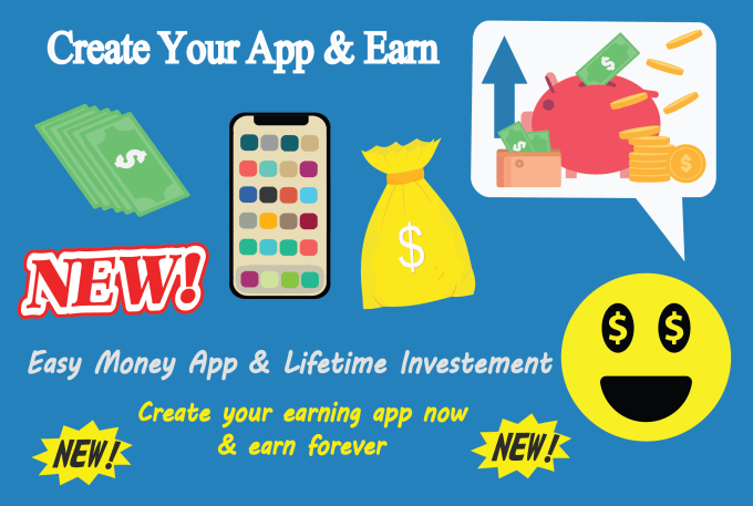 make a professional earning android app for easy money
