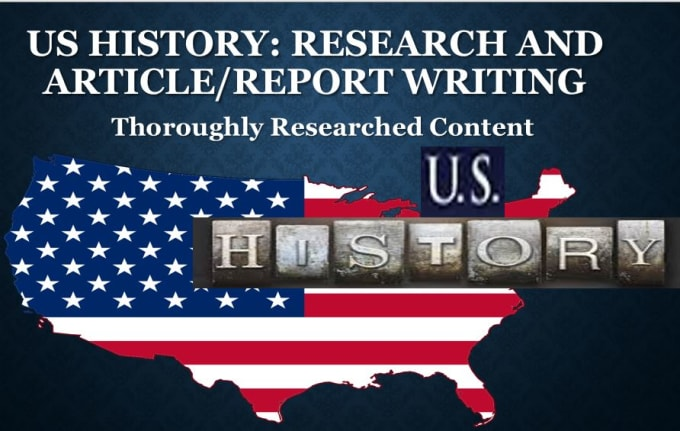 write articles on US history