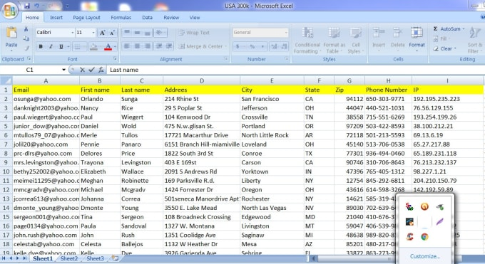 give you 200k niche business consumers leads email list