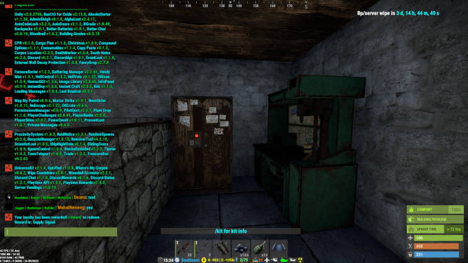 setup your rust gaming server, and install edit plugins
