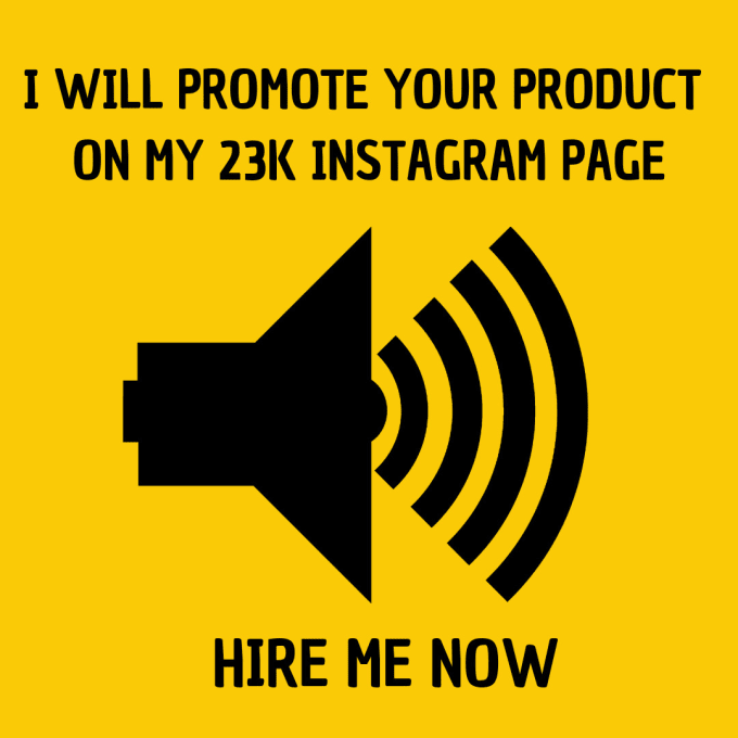 promote your product on my 23k instagram page
