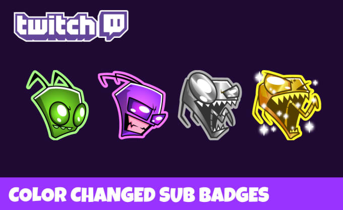 create awesome color changed sub badge for twitch