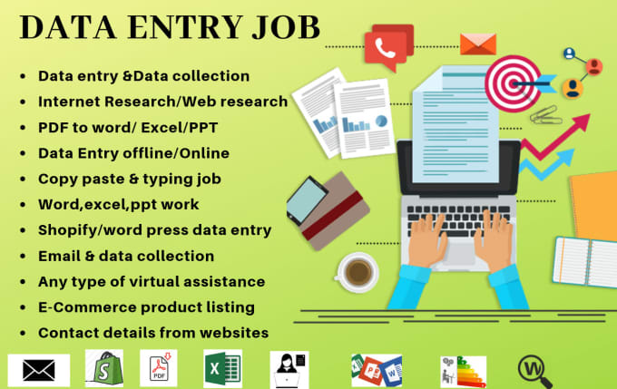 do perfect data entry,web research,typing,copy paste,email