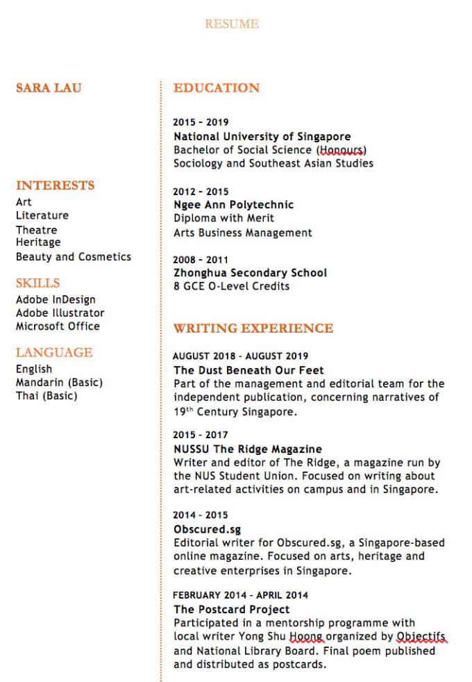 Write and design a resume for you by Saralje