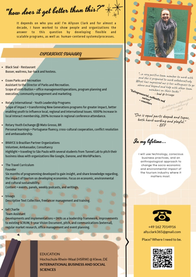 help curate and revise an impactful resume or cover letter