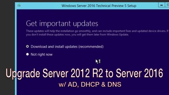 setup and configure windows server