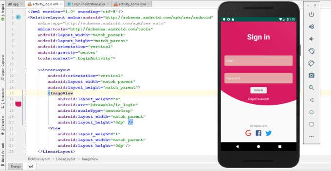 create attractive ui design in XML for android application