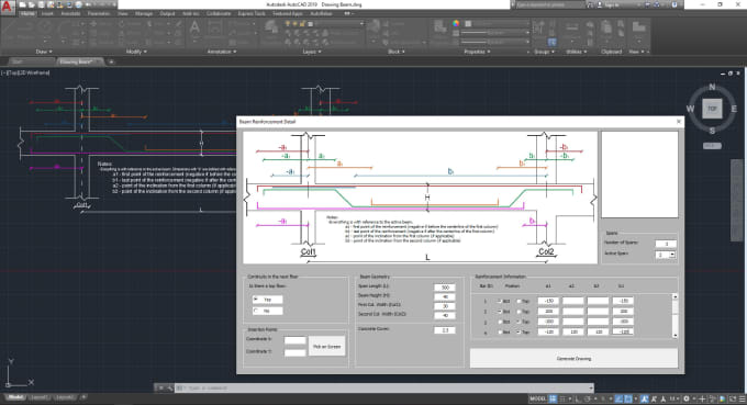 automate your autocad beam details with vba