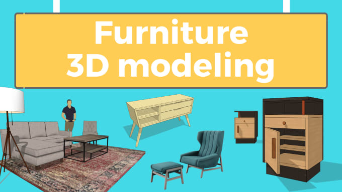 create 3d model of furniture using sketchup