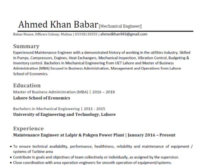 make your attractive cv by akb writer