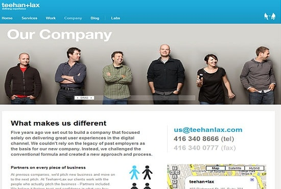 write detailed about us page for your business website