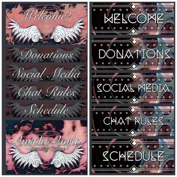 angelicangie : I will create basic mixer and twitch panels for $5 on  www fiverr com