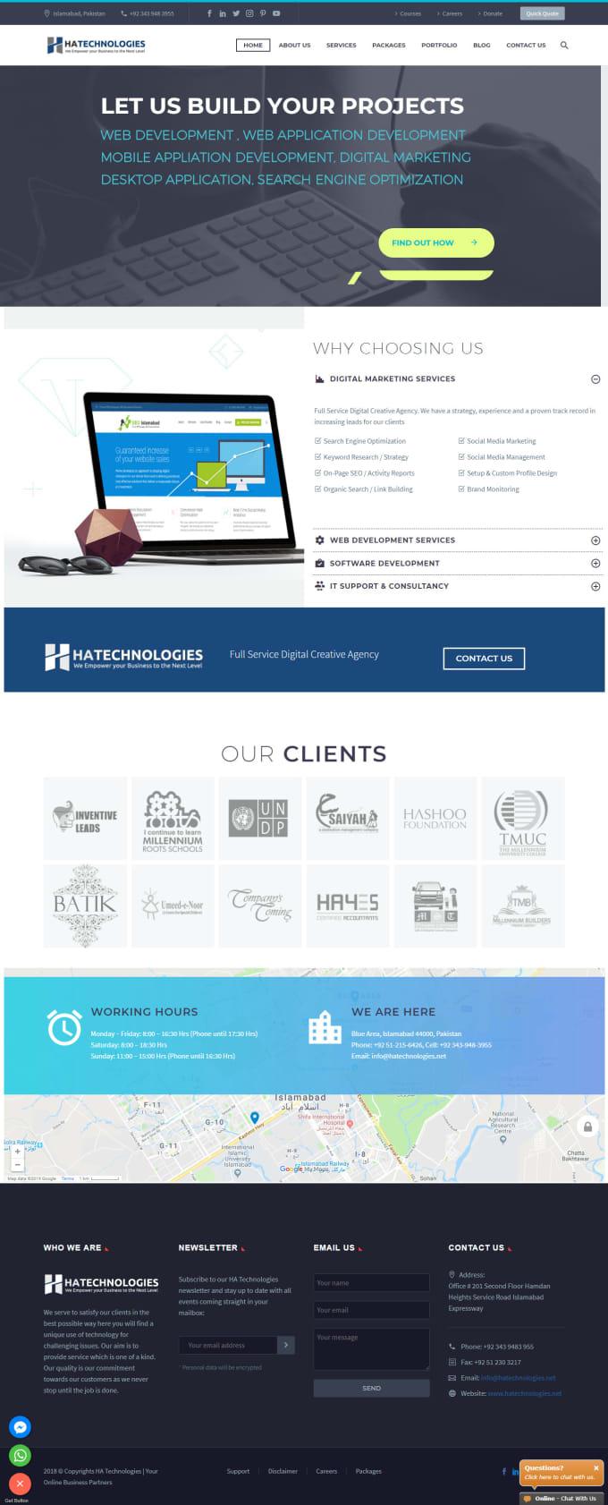 saqibtech97 : I will create wordpress website, digitall marketing, SEO and  create customize softwares for $300 on www fiverr com
