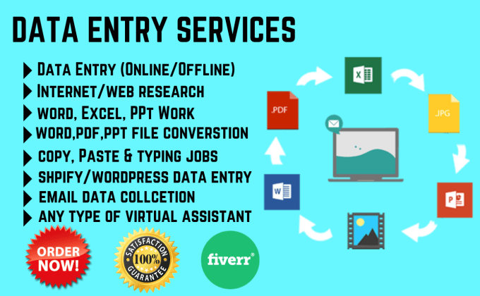 do data entry, web research, data collection and typing jobs