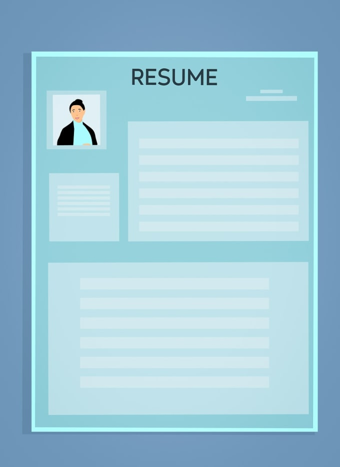 design a hire on spot CV resume in infographic style