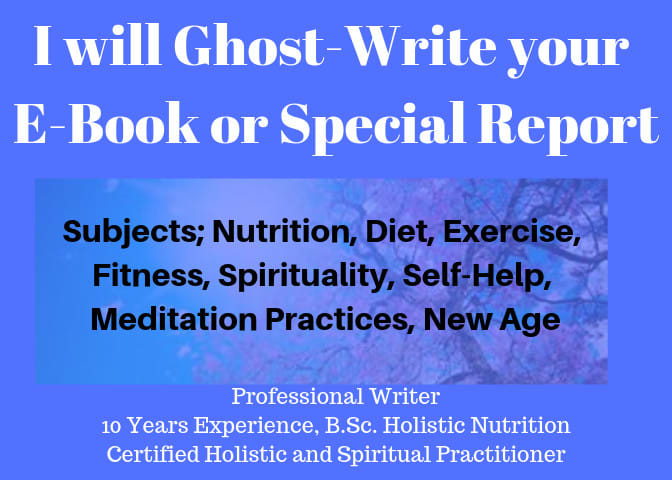 write a professional ebook in health, fitness, self help