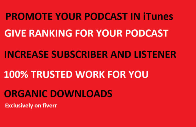give you listener and ranking for your podcast with marketing