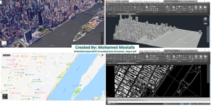 create dwg or dxf files from google maps