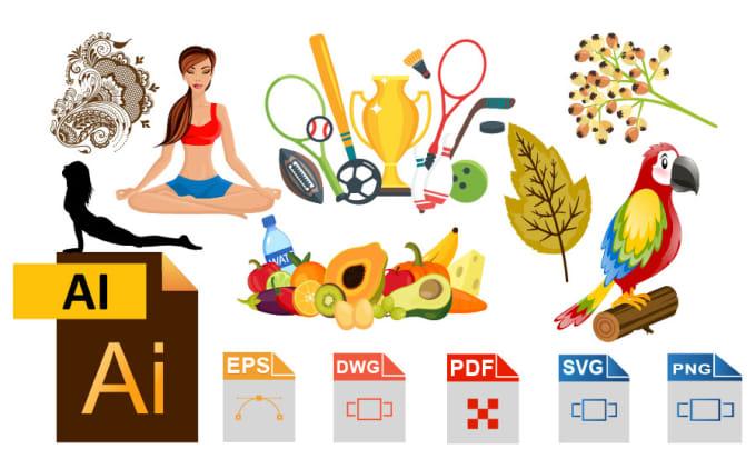 do vector illustration by adobe illustrator also edit eps svg pdf ai file