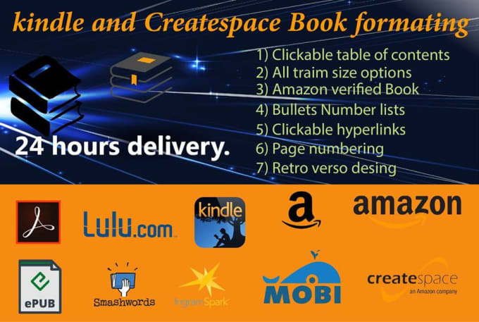 format your book for KDP or other printing company