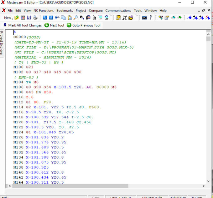 make your nc program g code for your cnc milling machine
