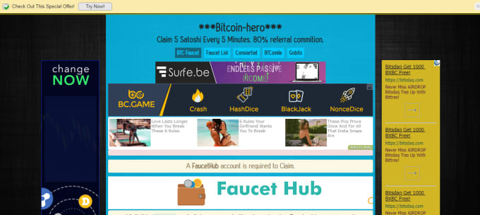 sooryata : I will creat proffesional btc faucet website for $5 on  www fiverr com