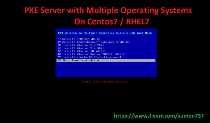 sumon737 : I will configure pxe server to install windows and linux os via  network for $5 on www fiverr com
