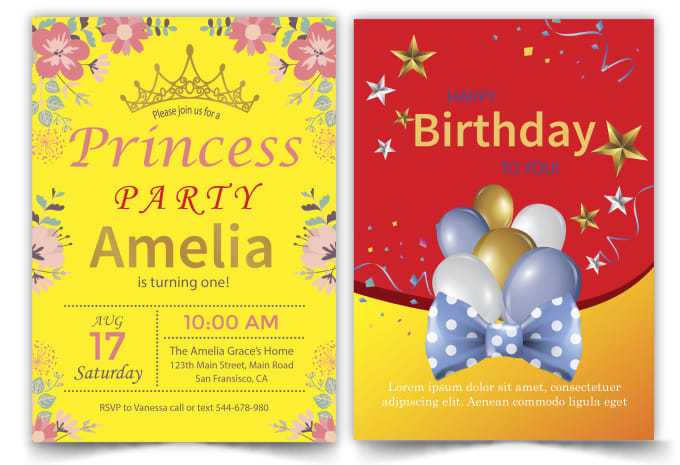 do birthday invitation card, business invitation card,wedding card design
