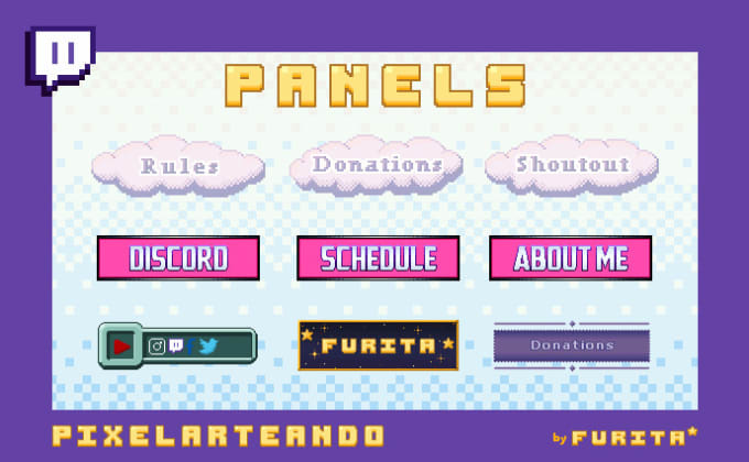 create awesome pixel art twitch panels