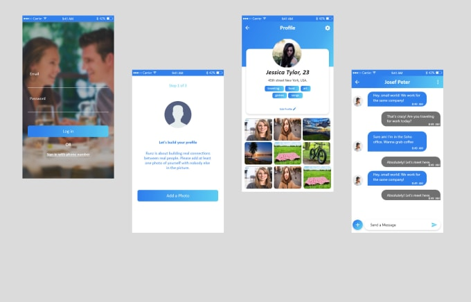 design UI mobile app iphone, android mockups, and wireframes in adobe xd