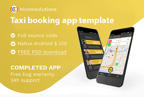 develop taxi booking app template android and ios