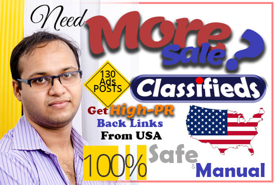 publish your ads in top rated usa classified sites high PR