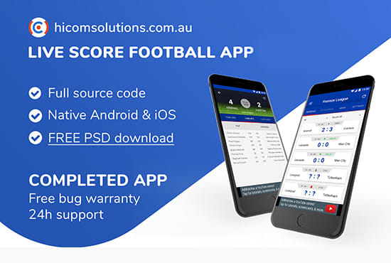 develop live score football ios and android app template
