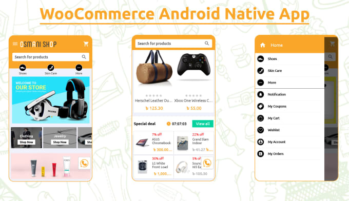 develop native woocommerce android app within 24hrs