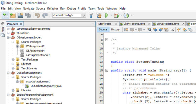 do java netbeans assignments or projects