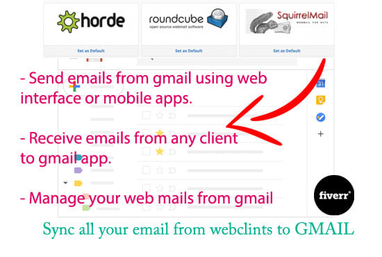 connect your webmail to gmail app