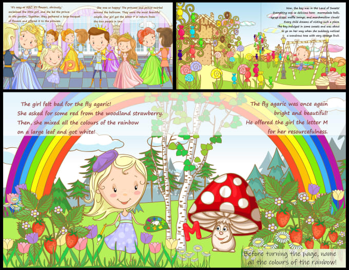 create children book illustrations, fairytale character or cover of the book