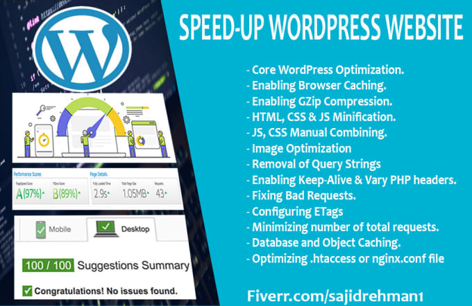I will speed up your wordpress website and improve page load time