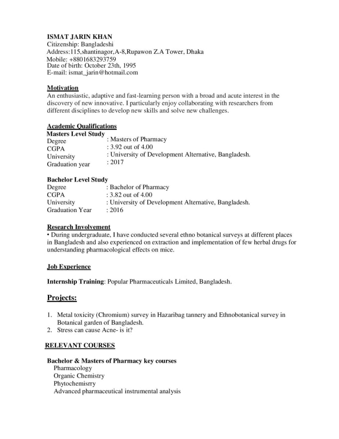 I Will Create An Entry Level Resume Cv Cover Letter Or Linkedin