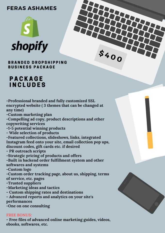 create a branded dropshipping shopify website