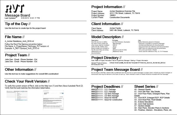 Create Custom Revit Templates