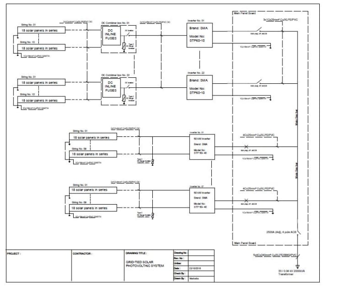 i will do single line diagrams for solar pv projects